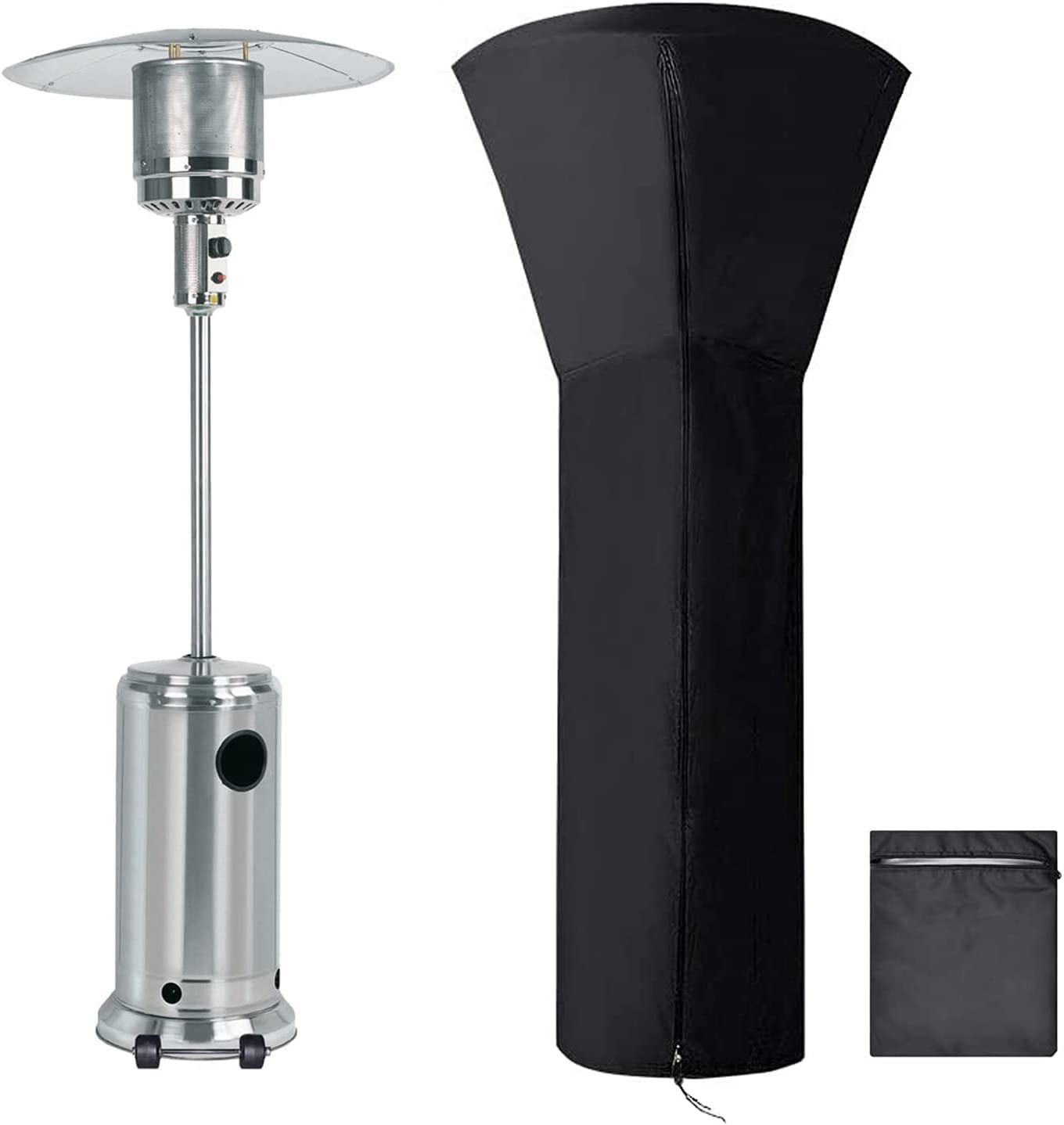 PAWFULL Patio Heater Cover of 420D Black Large discharge sale Thicker w Oxford Fabric Max 44% OFF