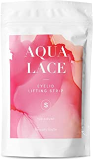 Beauty Logic USA Ultra Invisible Aqua Lace Eyelid Lift Kit 120pcs, Self Adhesive Blends Into Eyelids No Glare Non Surgical Instant Eyelid Lifting For Hooded Droopy Uneven Mono-Eyelids Latex Free,Small