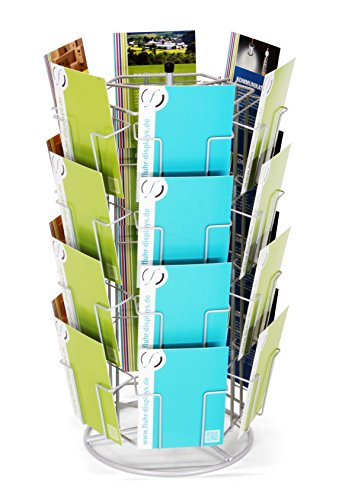 Fluhr Thekenständer für Grußkarten bis 13 cm Breite (Hochformat), Silber