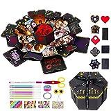 MOMSIV Hexagon Explosion Gift Box, DIY Photo Album Gift Box, Surprise Love Memory Box for Christmas, Valentine's Day, Birthday, Anniversary, Wedding, Marriage Proposals