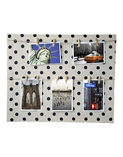 Hogar y Mas Marco Nueva York Memories, de Lienzo Textil y Original diseño. Sujeción por Pinzas Medidas: 40 x 50 cm