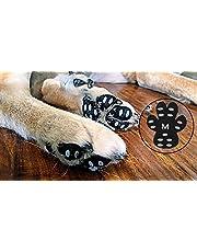 YAODHAOD - Protector de pata de perro, 24 almohadillas de tracción antideslizantes resistentes y antideslizantes, patas de perro desechables autoadhesivas, zapatos de perro, calcetines reemplazados