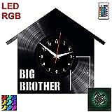 AIYOUBU-Big Brother Horloge Murale RVB LED Pilote Horloge MuraleRecord...