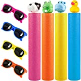 GiftInTheBox Kids Sunglasses Party Favors with Water Blaster Set for Kids, Water Toys Outdoor Pool Toys for Kids Age 4-8 and Adults - Shoots Up to 30 Ft