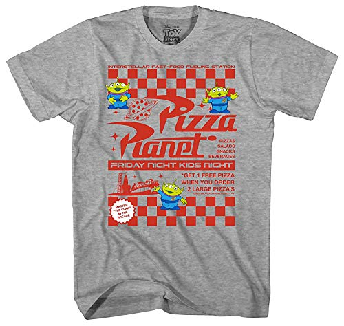 Disney Toy Story Pizza Planet Flyer Men's Adult Graphic Tee T-Shirt