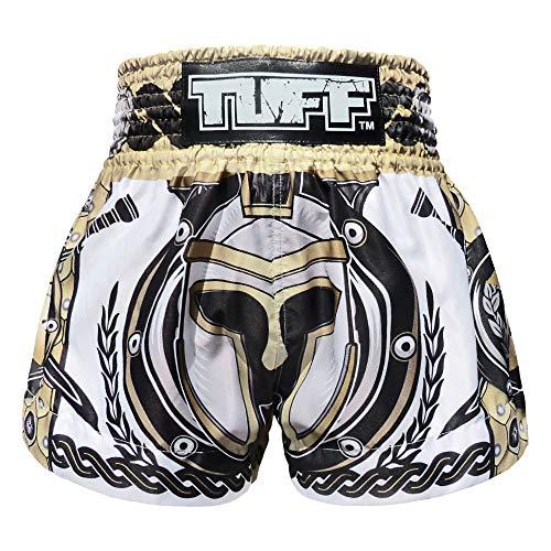 Tuff Ms634-wht, Boxhose, Muay Thai, für Kick, Kampfsport, Training, Fitnessstudio, Größe XL