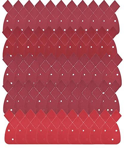 Nombre  Paquete de 50 hojas de papel de lija para detalles de ratón de repuesto, gancho y bucle, todos los grados 40, 60, 80, 120, 240, grano para adaptarse a todas las lijadoras de ratón