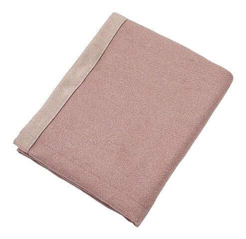 McAlister Textiles Herringbone Chevrons Couverture en Laine Chemin de Lit, Canapé et Fauteuil - Accessoire - 180x254cm | Couleur Mauve Violet Pâle