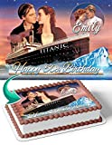 Cakecery The Titanic Edible Cake Image Topper Personalized Birthday Cake Banner 1/4 Sheet