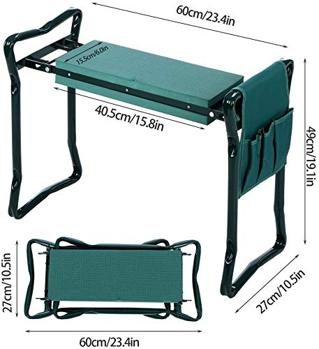 SueSport Folding Garden Bench SeatKneeler