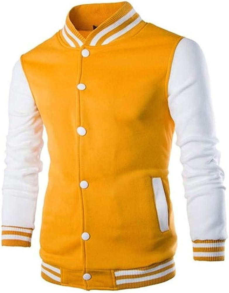 Kalanman Mens Slim Fit Varsity Baseball Jacket Unisex Uniform Jacket Sport Coat