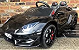 Epic Play Ltd Kids 2 seater SV Roadster sports car 12V Battery Electric Ride on Car with Remote Control - Black