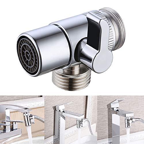 Válvula de grifo de repuesto para lavabo, baño, cocina, adaptador, M22 x M23, cromo pulido