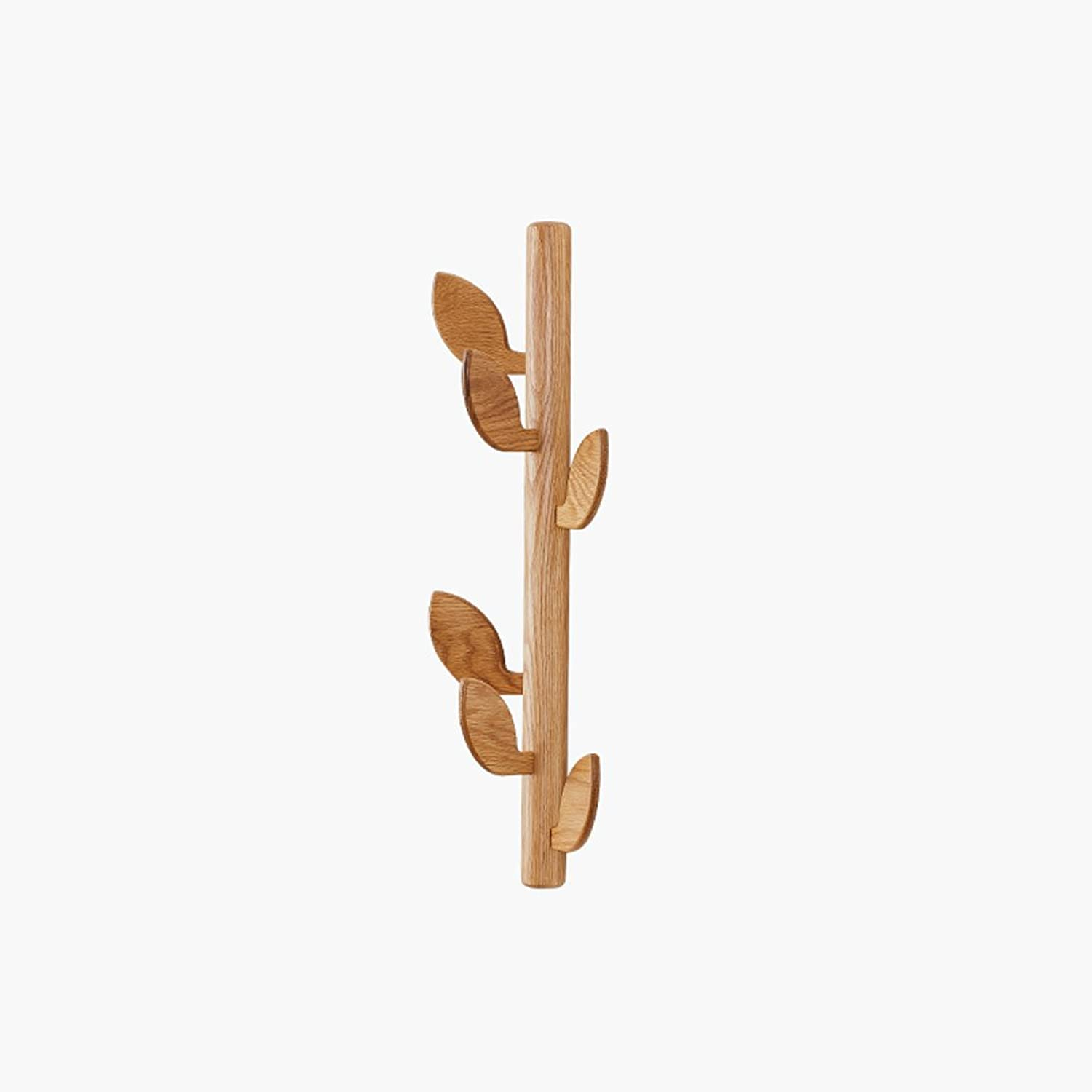 Yxsd Solid Wood Foyer Wall Coat Rack, Creative Leaves Living Room Decoration Wall Hanging Shelf 6 (pcs) 58  20cm (color   A)