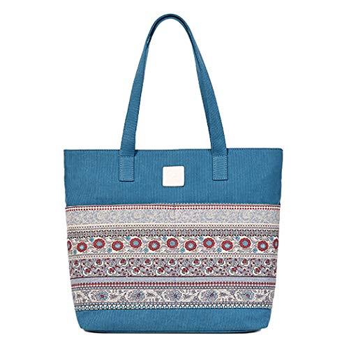 Bageek Borsa tote in tela borsa donna Hobo Borsa a spalla da donna per scuola, lavoro, shopping