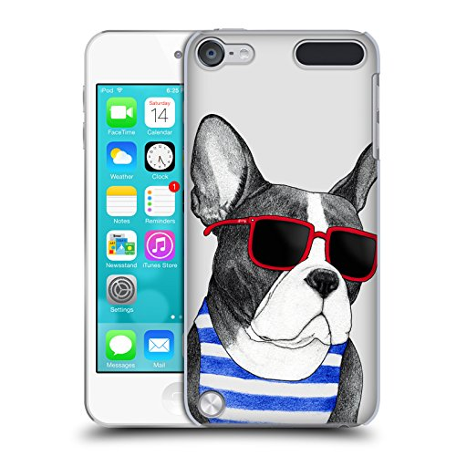 Head Case Designs Officially Licensed Barruf Frenchie Summer Style Dogs Hard Back Case Compatible with Apple iPod Touch 5G 5th Gen