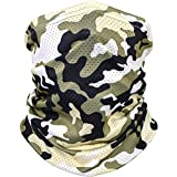 Bandana Cloth Face Mask Washable Face Covering Neck Gaiter Dust Mask (Cooling Bandana - Camo 2)