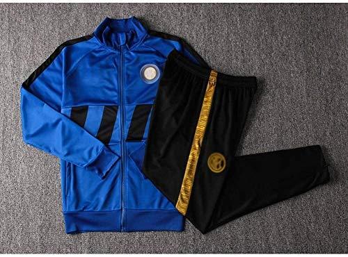 AIYIJIA Entrenamiento de fútbol Traje Azul de Primavera y el Verano de Ropa Deportiva del Club de fútbol Europeo Camiseta de los Hombres del Juego de fútbol cómodo y Transpirable traje-CW2012