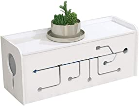 Jcnfa-Shelves Cable Management Box, Cord Organizer Box Wires Hider , for Home Office Desk Surge Protector, TV Computer Entertainment Center - White (Color : White, Size : 14.175.115.90in)