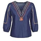 DESIGUAL Patty Tops/Blusas Mujeres Azul - L - Tops/Blusas