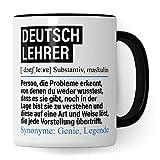 Pagma Druck Tasse Deutschlehrer lustig, Deutschlehrer Geschenk, Spruch Deutsch Lehrer Kaffeebecher Geschenkidee, Kaffeetasse Beruf Lehramt Teetasse Becher
