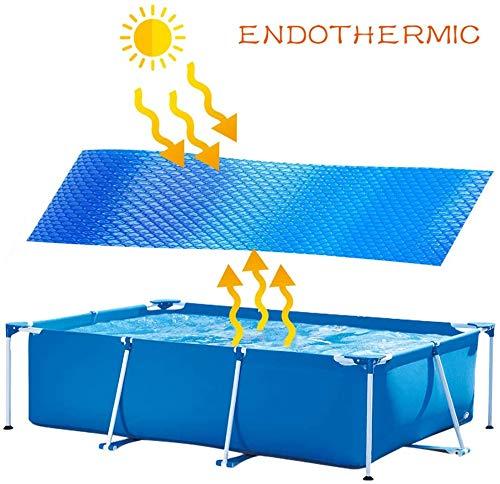 Surfilter Filtro de Aire Bacirc; Calentador Solar de Piscina; Burbujas Azules rectangulares, Cubierta de Piscina, Protección de Cubierta de Piscina (300x200cm)