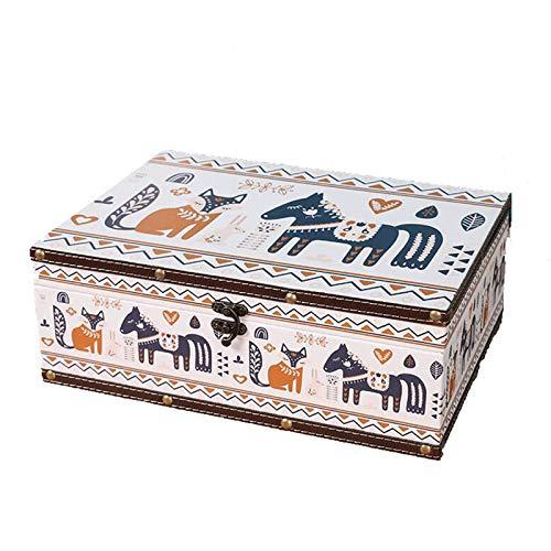 WNN - URG Joyero de piel, pequeña caja de almacenamiento de joyas, decoración, adecuado para pendientes, collares, anillos y pulseras URG (tamaño: 32,1 x 23,5 x 11,7 mm)