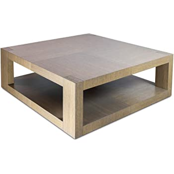 Tapidecor Low Square Wooden Coffee Table 100 X 100 X 35 Cm Amazon Co Uk Kitchen Home