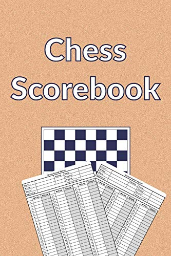 Chess Scorebook: 100 Chess Score Sheets | 90 moves per sheet | Chess Record Book | Chess Improvement Book | Gift for Chess Players