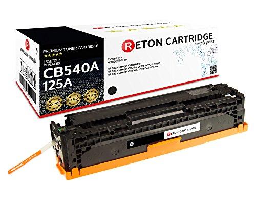 Original Reton Toner, kompatibel, Schwarz für HP CP1510 (CB540A), HP 125A, Color Laserjet, CM1312, CM1312 MFP, CM1312NFI, CM1300, CP1210, CP1215, CP1215N, CP1217, CP1510, Schwarz