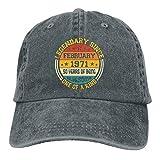 Yaxinduobao 50 cumpleaños 50 años Nacido en 1971 Gorra de Mezclilla Deportiva Unisex Gorra de béisbol Sombrero de Vaquero Ajustable Vintage