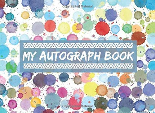 """Compare Textbook Prices for My Autograph Book: Blank Keepsake Memory Log Book Journal, Unlined Scrapbook for All your Favorite Celebrities, Sports Stars, Disney Cartoon ... 8.25""""x6"""" with 120 pages. Autograph Diary  ISBN 9781708416775 by Journals, Crown"""