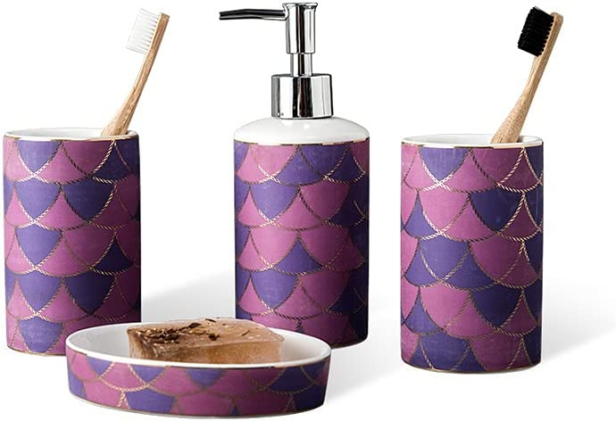 CJSWT Bathroom Accessories Set Bombing free shipping Columbus Mall 4 Acces Sets Piece Decor
