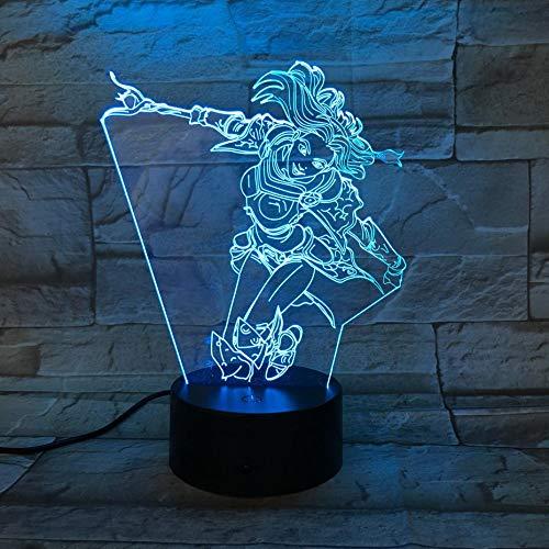 LoL Heros Schlafzimmer Sensor Raumdekoration die Dame der Leuchtkraft Luxanna Crownguard LED Nachtlicht