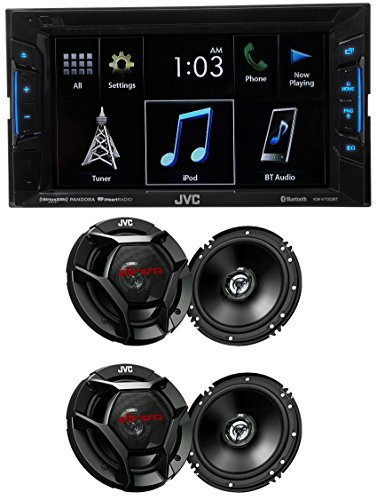 JVC KW-V130BT 6.2' DVD Player Receiver+Bluetooth iPhone/Android+4) 6.5' Speakers