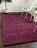 """Pile: Polypropylene - Backing: Cotton - Weave: Machine Woven - Made In: Turkey Size in FT: 8' 0 x 10' 0 - Size in CM: 245 x 305 - Pile Height and Thickness: 1.5"""" - Colors: Eggplant Purple Easy-to-clean, stain resistant, and does not shed - rug pad re..."""