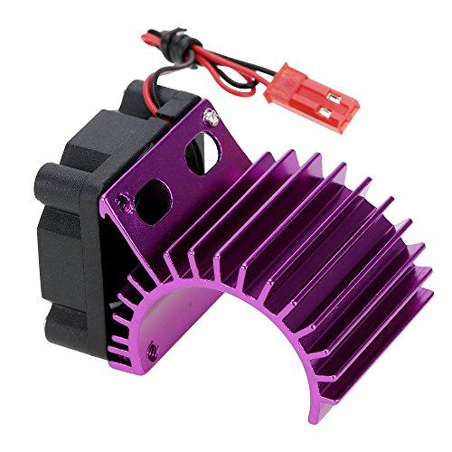 7016 Moteur Dissipateur Thermique Avec Ventilateur De Refroidissement Pour Voiture Rc 1/16 Hsp 380 Moteur Violet