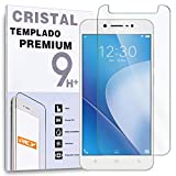 REY Protector de Pantalla para Vivo V5 Lite, Cristal Vidrio Templado Premium