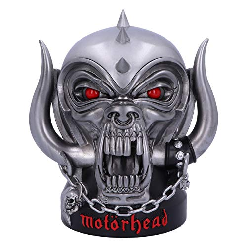 Nemesis Now Officially Licensed Offiziell Lizenziertes Motorhead Ace of Spades Warpig Snaggletooth Box, Polyresin, Silber, Einheitsgröße