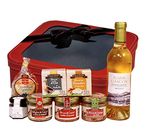 """Ducs de Gascogne - Coffret Cadeau - """"Valise Gourmande"""" - comprend 8 produits - Spécial Cadeau"""