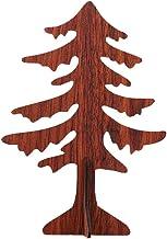 Amosfun Wooden Christmas Tree Ornament Tabletop Christmas Tree for DIY Craft Making Christmas Party Decoration Supplies (B...