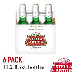 Stella Artois Lager, 6 Pack Beer - 11.2 FL OZ Bottles