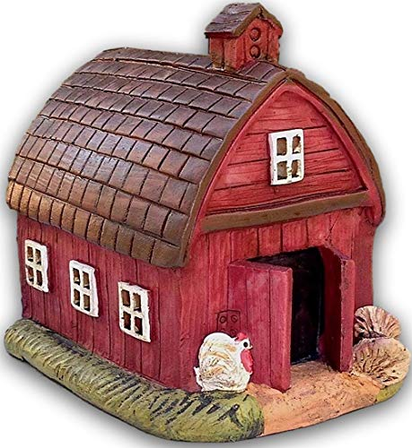 KCHEX Miniature - Mini Red FARM Barn House - Mini Dollhouse Supply Expressions