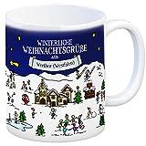 trendaffe - Werther (Westfalen) Weihnachten Kaffeebecher mit winterlichen Weihnachtsgrüßen - Tasse, Weihnachtsmarkt, Weihnachten, Rentier, Geschenkidee, Geschenk