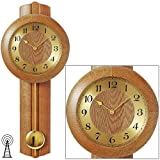 Garantie (Monate): 24 AMS Wanduhr 5165/4 mit Pendel Funk Massivholz Eiche Mineralglas