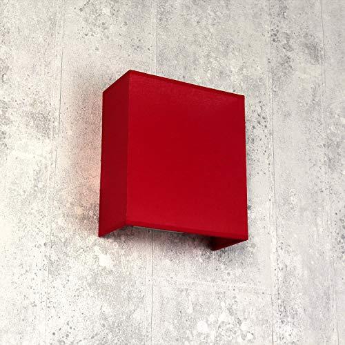 Aplique de pared de tela rojo cuadrado Loft E27 moderno diseño lámpara de pared dormitorio salón pasillo
