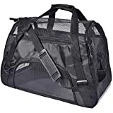 PPOGOO Large Pet Travel Carriers 20.9x10.2x12.6 22lb(10KG) Soft Sided Portable Bags Dogs Cats Airline Approved...