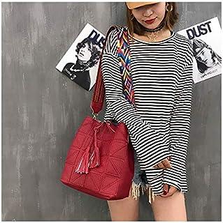 HAWEEL Anti-Theft Classic Retro Messenger Travel 2 in 1 Casual PU Shoulder Bag Ladies Handbag Messenger Bag with Tassel (Black) Sling Crossbody Mini Purse One Size (Color : Red)