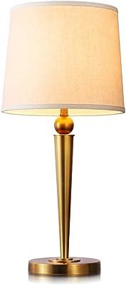Seven Sons Lecho de la lámpara de Mesa de la Cama Lateral - T4048 Simple y Moderna Sala de Estar del Dormitorio de Cristal Creativa Lámpara romántica cálida: Amazon.es: Hogar