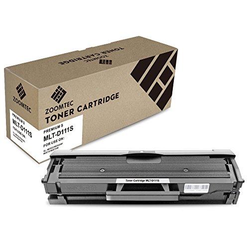 ZOOMTEC compatibele MLT-D111S tonercartridge voor Samsung MLT-D111S Xpress SL-M2070W SL-M2022W SL-M2020W SL-M2026W SL-M2070FW SL-M2078W SL-M2020 SL-M2022 SL-M2026 SL-M2070 Printer High Yield Zwart 1 Pack Zwart